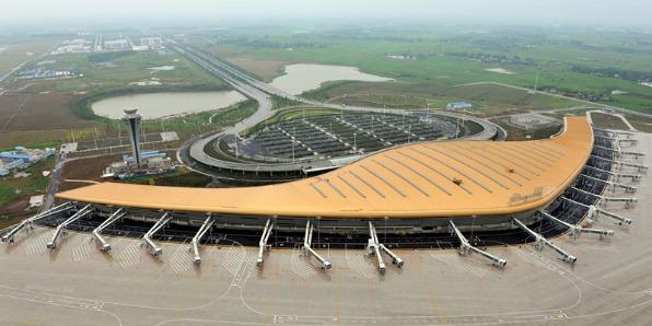 A2级防火金属铜复合板机场应用案例-河北蓝天U+装饰板品牌