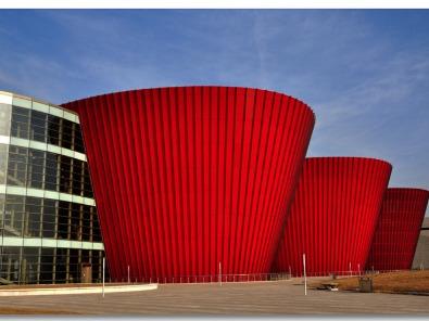 A2级防火金属铜复合板会展中心应用案例-河北蓝天U+装饰板品牌
