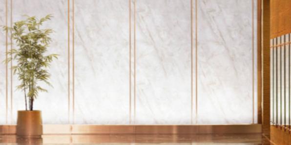 A2级防火金属铝大理石复合板室-河北蓝天U+装饰板品牌-内墙板装饰