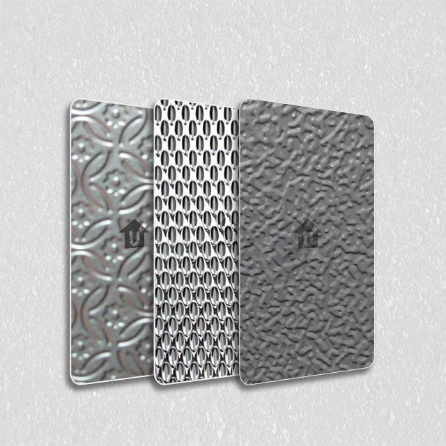 装饰彩涂钢卷板-河北蓝天是国标金属压花涂覆膜彩涂单板复合板会议室大厅会所办公室彩板厂家
