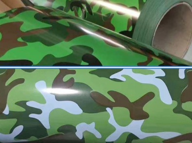 金属装饰印花迷彩纹系列-河北蓝天是国标金属印花涂覆膜彩涂单板复合板会议室大厅会所办公室彩板厂家
