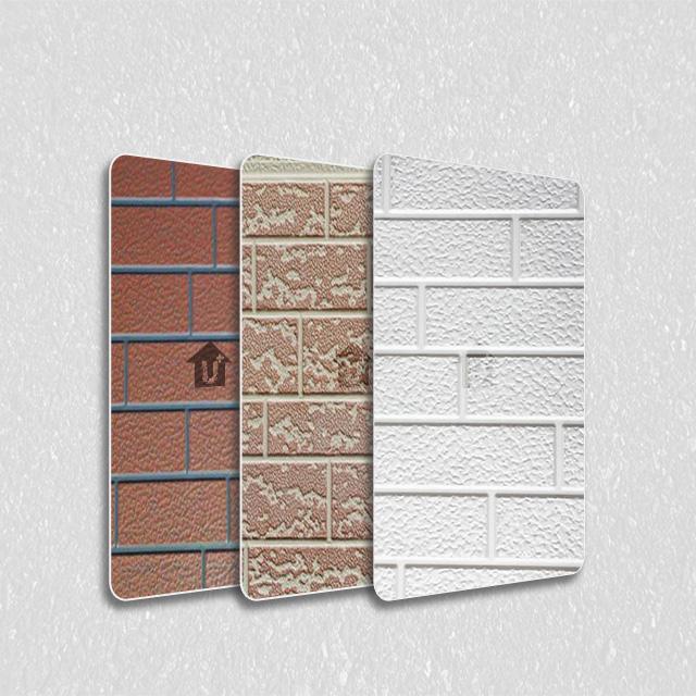 装饰彩涂钢铝卷雕花砖纹板-印花覆膜根据色卡定制报价-河北蓝天装饰彩板厂家