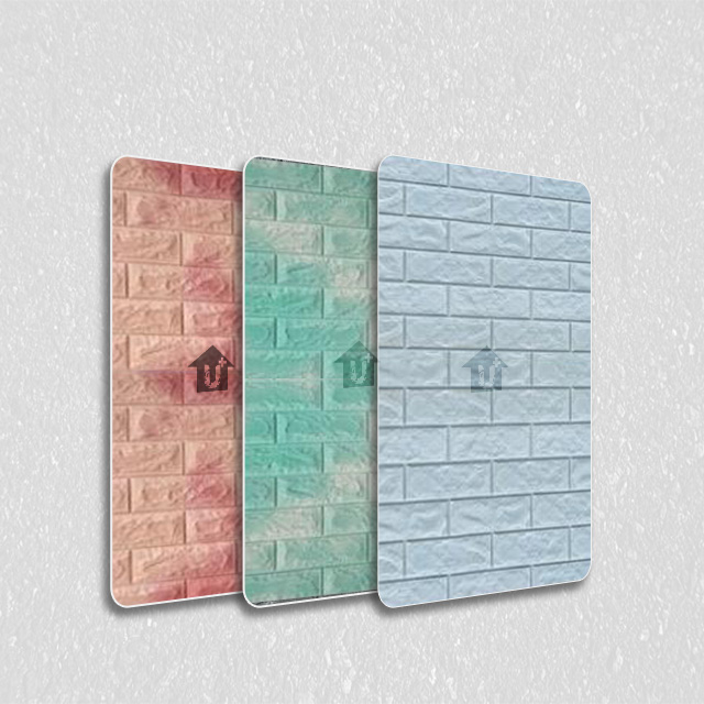 装饰金属彩涂覆膜板-砖纹